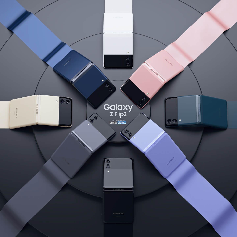 Samsung Galaxy Z Flip 3 smartphone kleuren