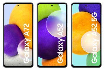 Samsung A-serie smartphones A72 A52